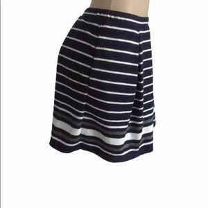 MAX studio skirt, striped, blue white, size m, new